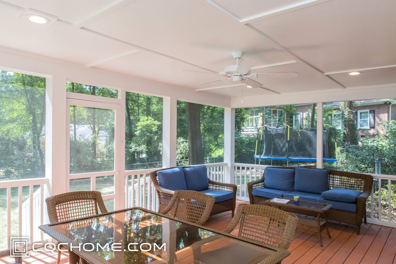 Image Of CQC Home Design Build Screened Porch Interior