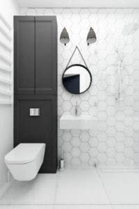 Modern White Hexagon Wall Tile
