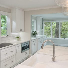 Quartz Counters with Apron Front Sink