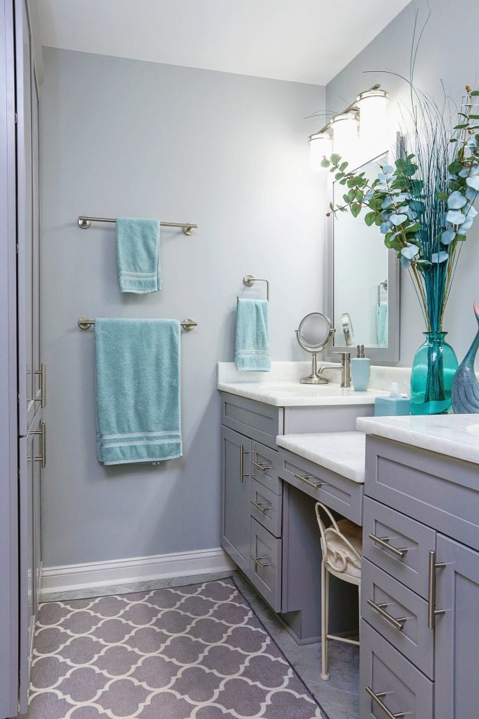 Bathroom with double vanities