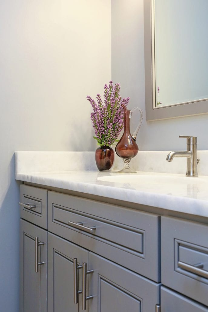 updated small bathroom cabinetry
